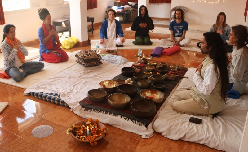 Tibetan Singing Bowls Healing Training India 2