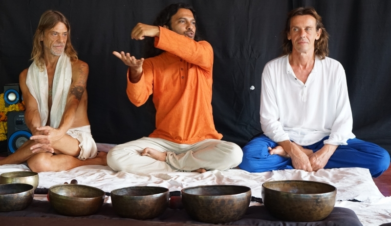 Tibetan Singing Bowls Therapy Healing Training India